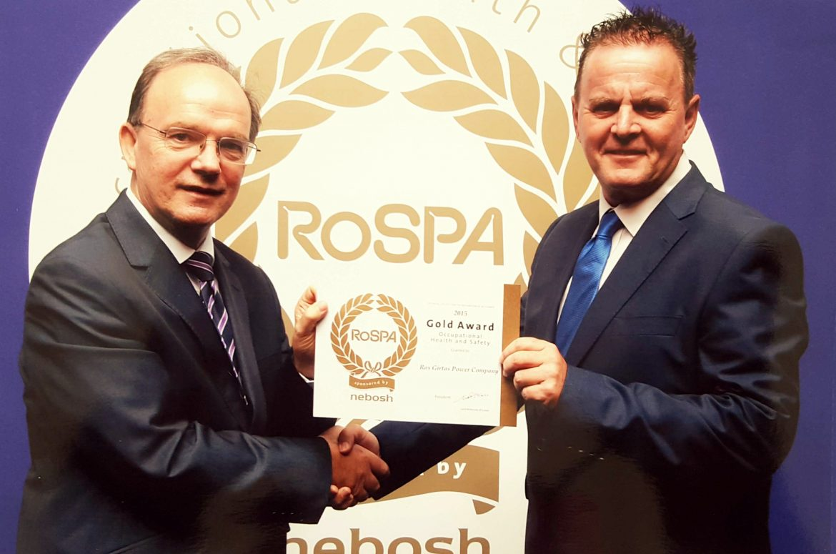 RoSPA Electricity Sector Award – 2015