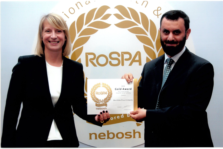 RoSPA Electricity Sector Award – 2014